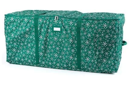Green snowflake pattern Christmas tree bag