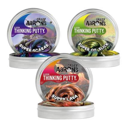 Crazy Aaron's thinking putty tins