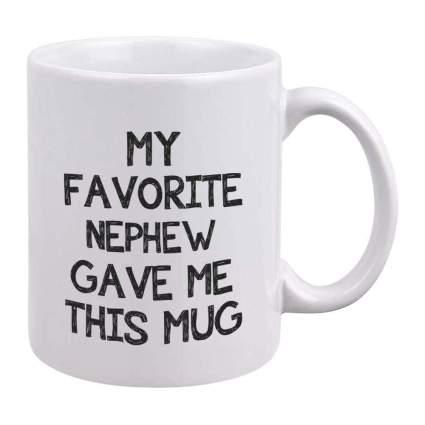 Favorite Nephew coffee cup
