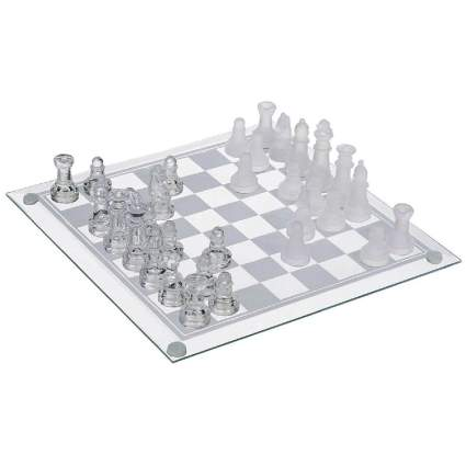 GamieTM Glass Chess Set