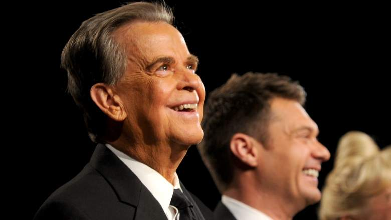 TV personalities Dick Clark (L) and Ryan Seacrest attend the 37th Annual Daytime Entertainment Emmy Awards