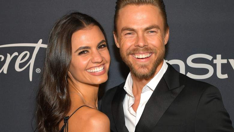 Hayley Erbert and Derek Hough attend The 2020 InStyle And Warner Bros. 77th Annual Golden Globe Awards Post-Party
