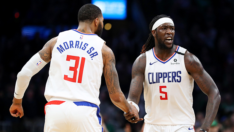 Marcus Morris Puts Lakers' Montrezl Harrell on Notice With Stern Warning