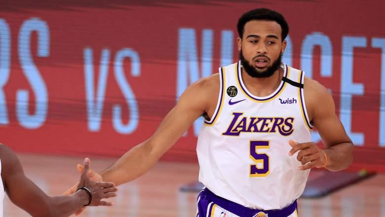Talen Horton-Tucker of the Lakers.