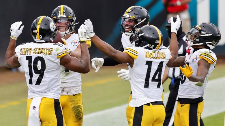 Steelers touchdown celebration