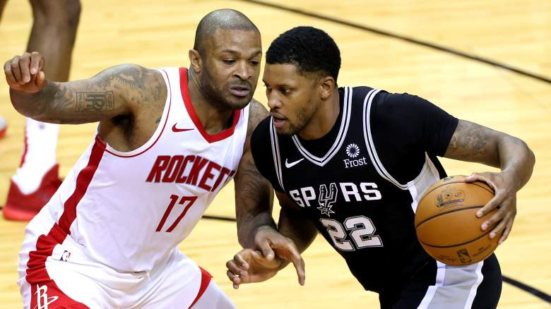 PJ Tucker, left, and Rudy Gay, right, potential Celtics' trade exception targets