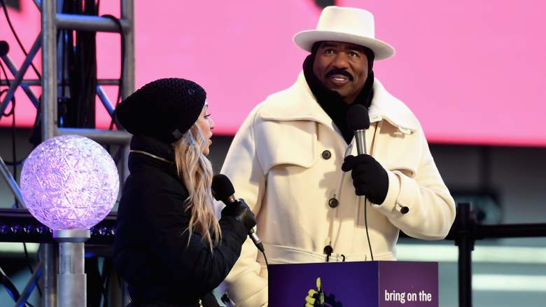 Steve Harvey at the Times Square New Year's Eve ball drop