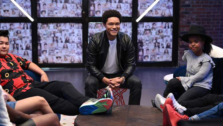"""Pictured: Nickelodeon and Time Magazine's """"Kid Of The Year"""" special, hosted by Trevor Noah, with a kid committee including Young Dylan, Chinguun Sergelen, Chif Ivy and Sky Katz, and Time For Kids reporters Tiana Sirmans and Raunak Singh."""