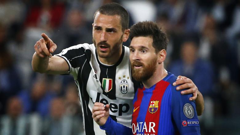 Leonardo Bonucci and Lionel Messi