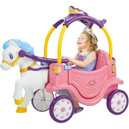 Pink horse and carriage toy