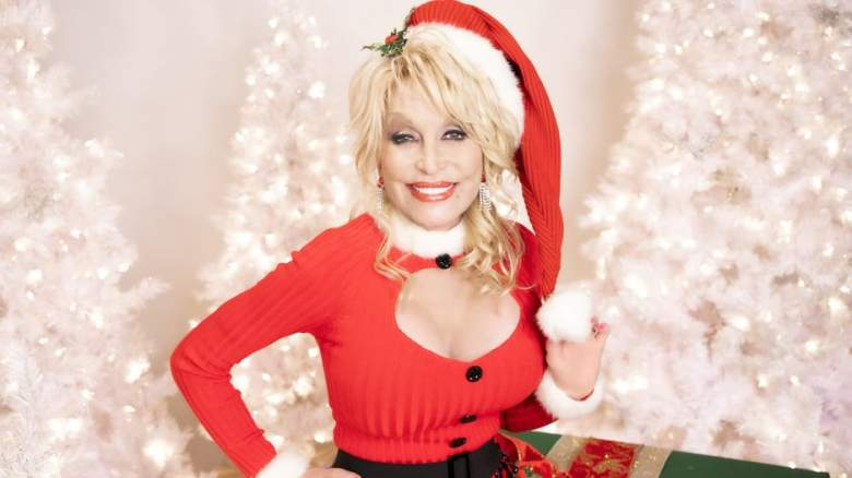 Pictured: Dolly Parton, who is performing as part of the 2020 Christmas in Rockefeller Center special