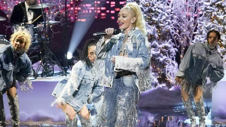 Gwen Stefani rehearses for NBC's New Year's Eve 2021