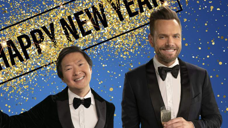 """L-R: Ken Jeong and Joel McHale are teaming up to """"Toast & Roast"""" all that was 2020 during the most anticipated New Year's Eve of all time!"""