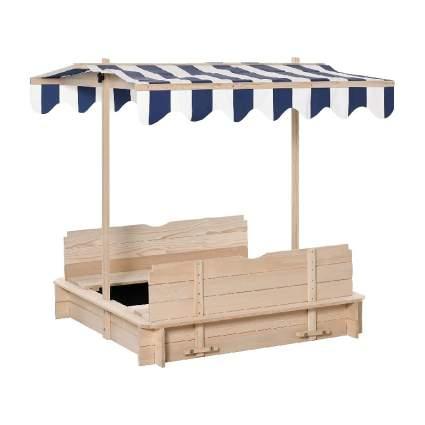 Wooden Kids Sandbox