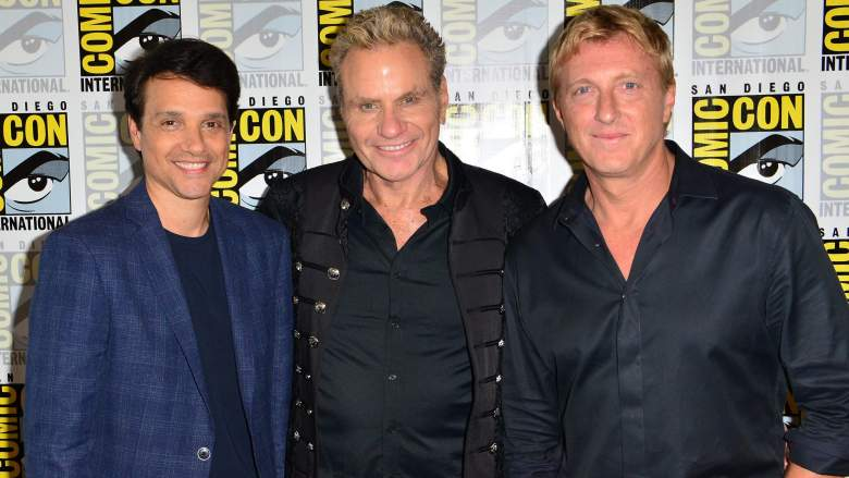 Ralph Macchio, Martin Kove and William Zabka