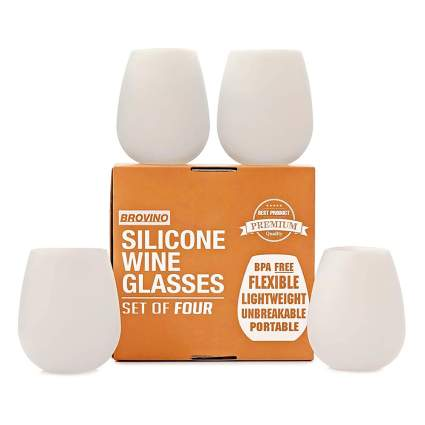 stemless silicone wine glasses