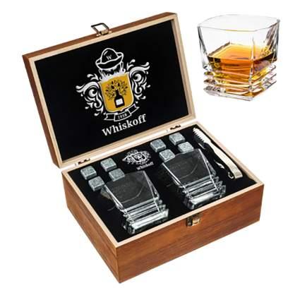 granite whiskey stones gift set