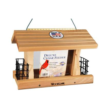 Woodlink Deluxe Cedar Bird Feeder with Suet Cages