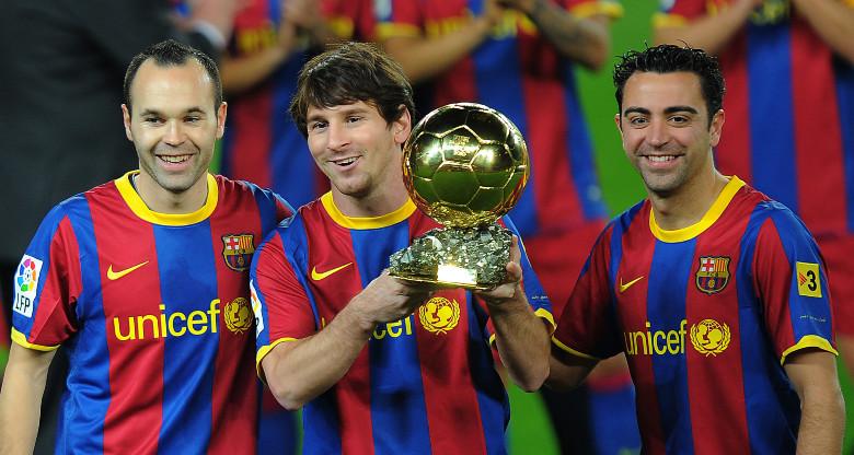 Xavi, Iniesta and Messi