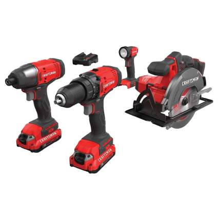 Save $60 on Craftsman V20 4-Tool Cordless Combo Kit
