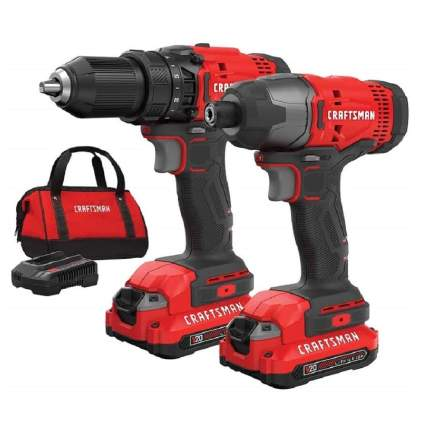 Save $65 on Craftsman V20 Cordless 2-Tool Combo Kit