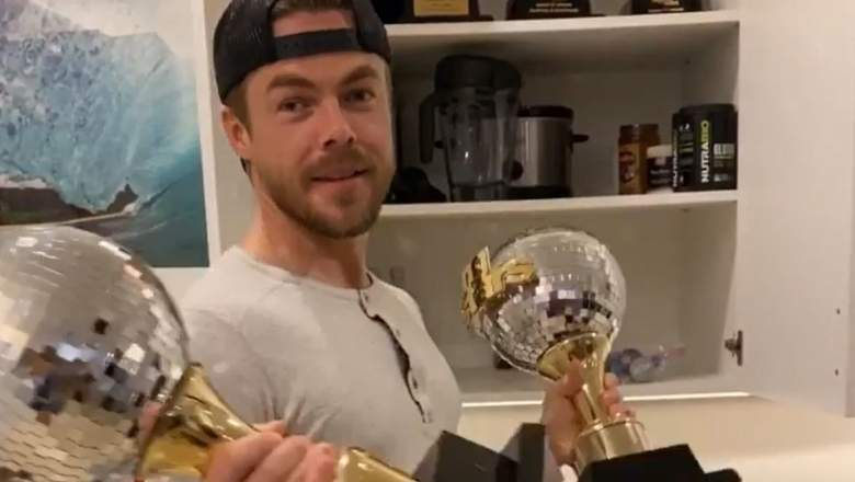 Derek Hough had to get two of his Mirrorball Trophies remade.