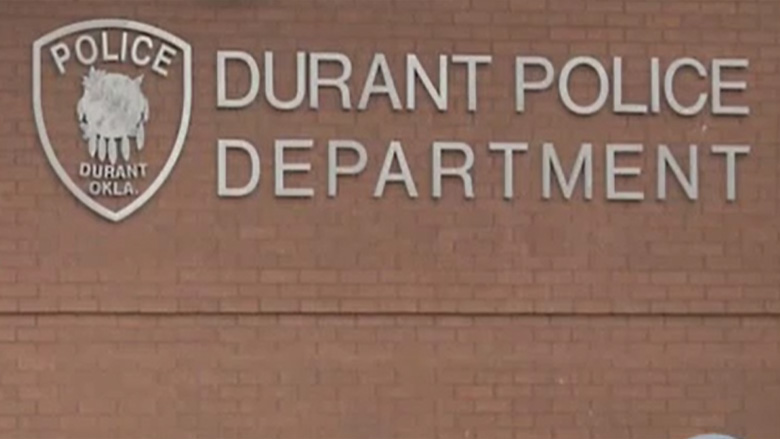 The outside of the Durant, Oklahoma, police department
