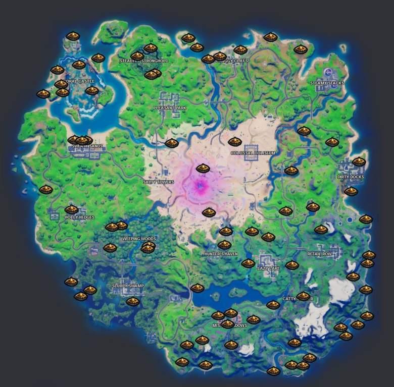 fortnite campfire locations