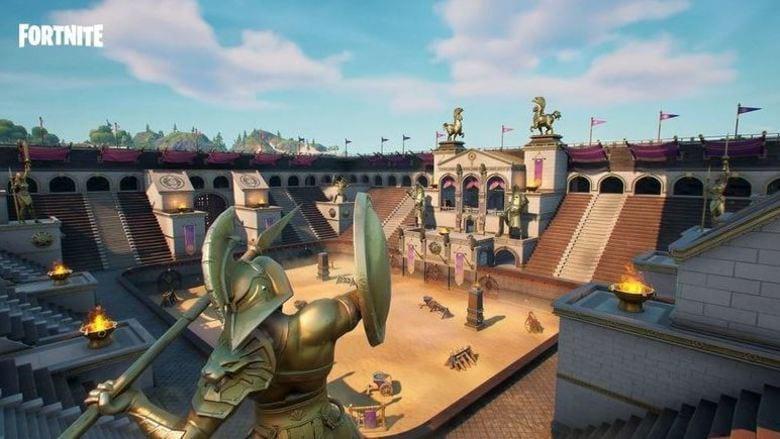 fortnite colossal coliseum new variant