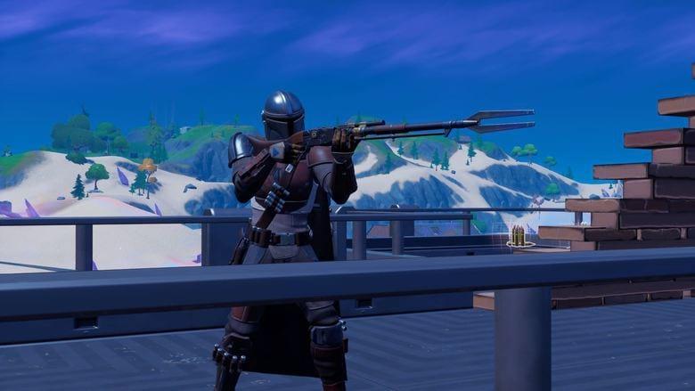 Sniper Rifle Fortnite Elimination How To Get The Mandalorian S Sniper Jetpack In Fortnite Heavy Com