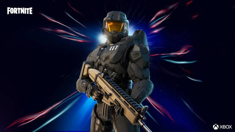 fortnite master chief matte black style