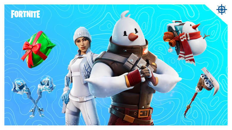 fortnite snowmando and frost squad outfit free