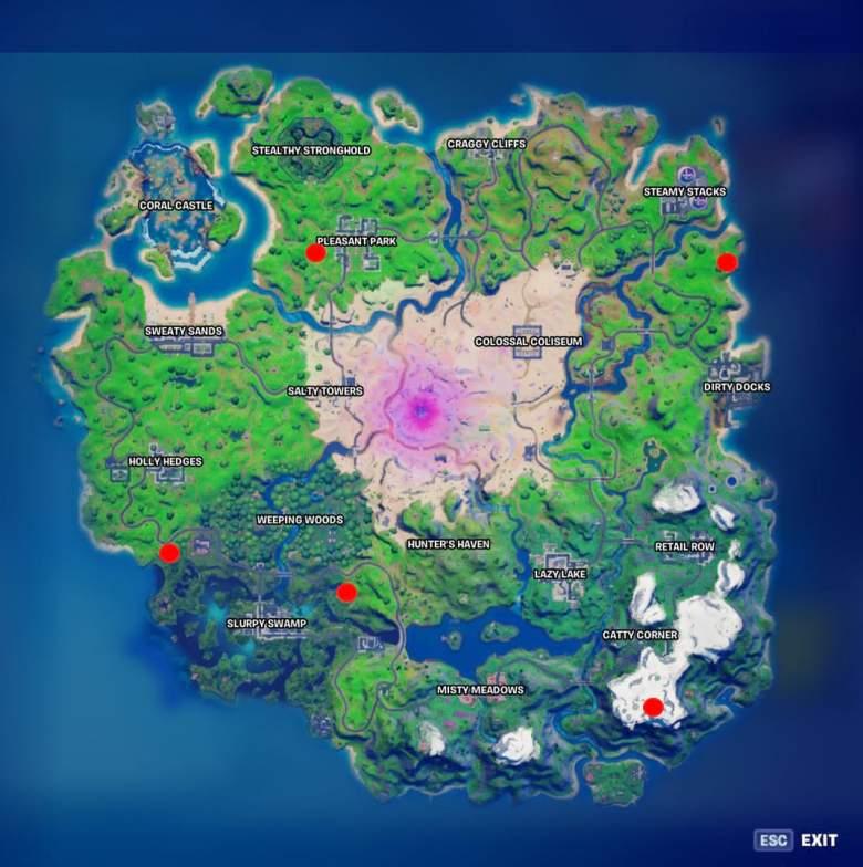 fortnite snowmando outpost locations