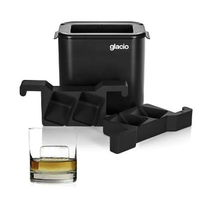 Glacio Clear Cube Ice Mold and Cooler