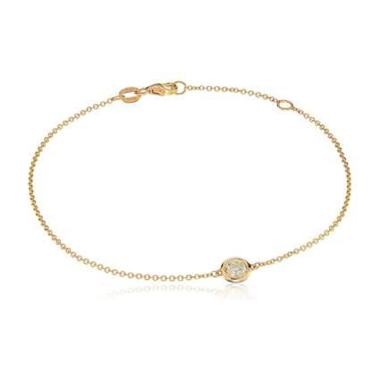 gold and diamond bezel bracelet