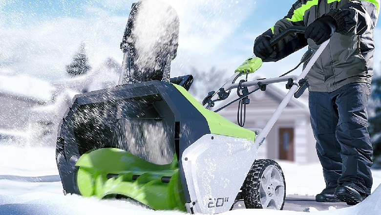 Save on Greenworks Snow Throwers