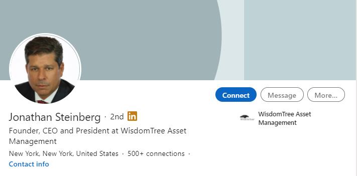 jonathan steinberg wisdomtree