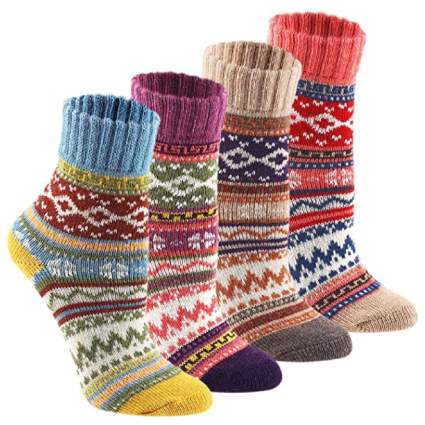 Keaza Cozy Crazy Novelty Wool Socks