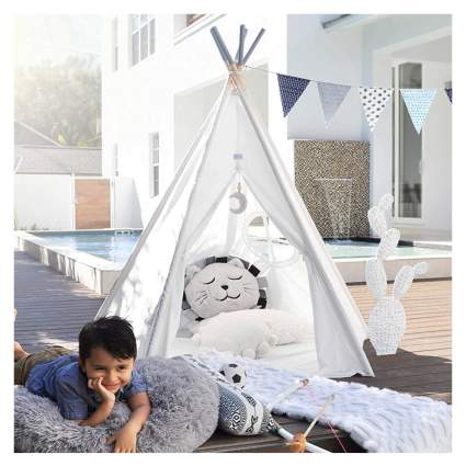 kids' indoor teepee tent