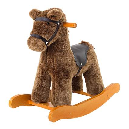 Brown toddler rocking horse