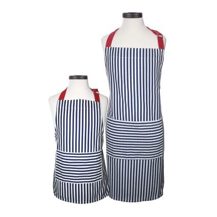 matching adult and child aprons