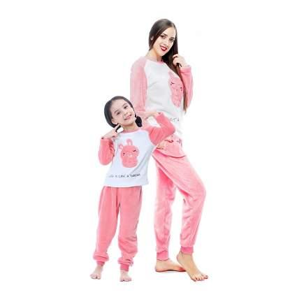 mother daughter plush pajamas