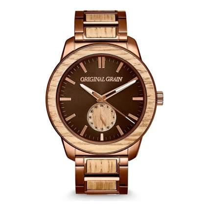 whiskey barrel wood watch