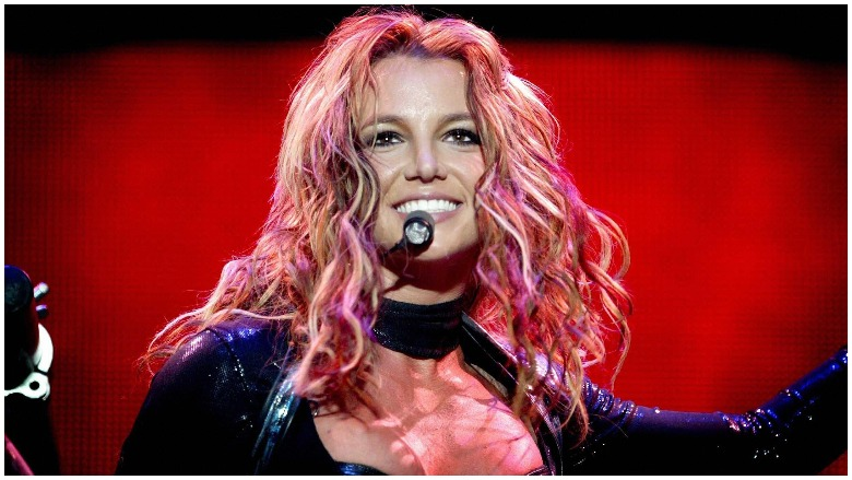 Britney Spears performing in Rotterdam.