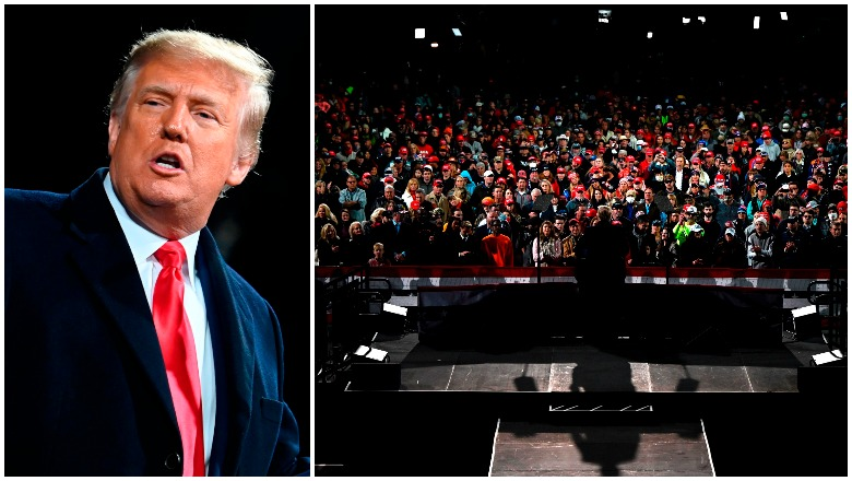 How many attended Trump's Georgia rally? crowd size photos