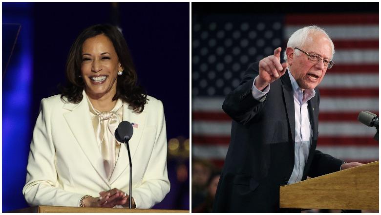 Kamala Harris and Bernie Sanders