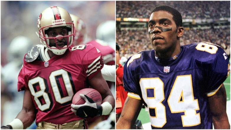 Randy Moss and Jerry Rice