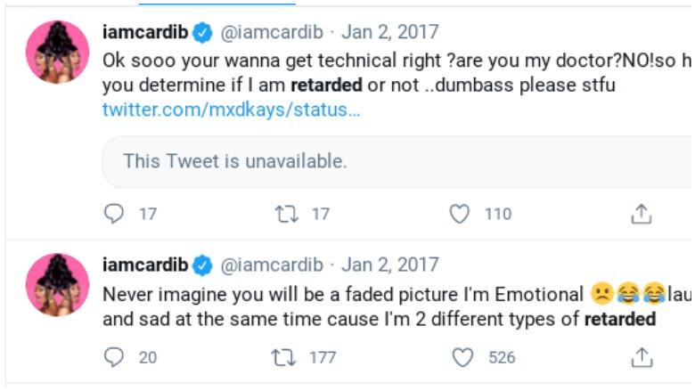 Cardi b retarded twitter