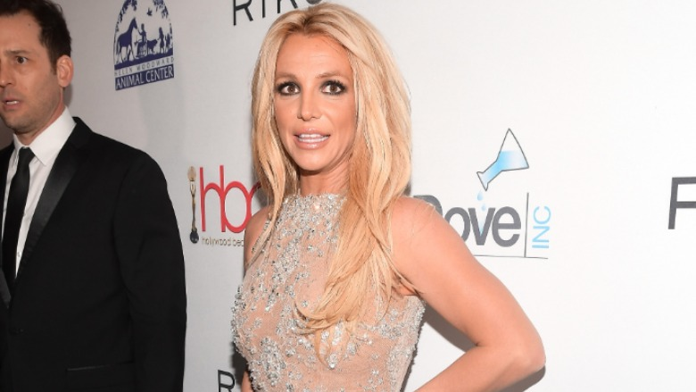 Britney Spears on the red carpet at the Hollywood Beauty Awards.