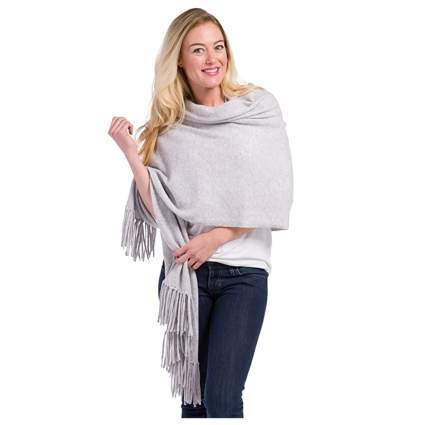 gray cashmere shawl